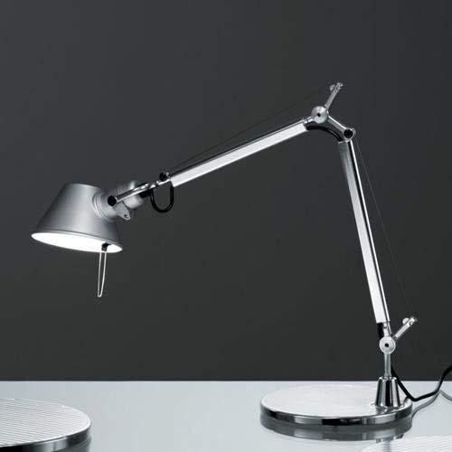 Artemide Tolomeo Micro tafellamp met voet, lengte 45 hoogte 37 max 73 cm, aluminium