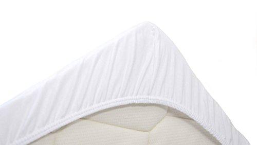 Snoozing Jersey - Spannbettlaken - 100% Baumwolle - 70x200 cm - Weiß