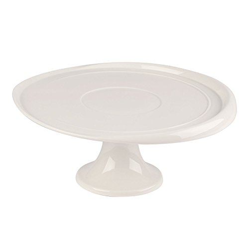 Villeroy & Boch - Clever Baking Kuchenplatte auf Fuß, Platte für raffinierte Kuchen, Premium Porzellan, weiß, spülmaschinenfest, 32 cm