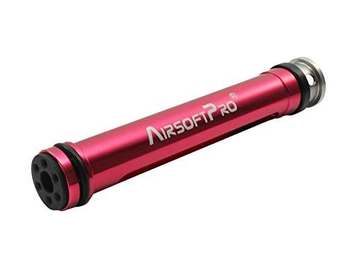 AirsoftPro L96 / MB01 und MOD24 Hybrid Softair Piston aus Aluminium, POM und Edelstahl, rot eloxiert