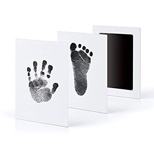 E-dance 3 Pcs/Set No-Mess Ink Baby Footprint & Handprint Ink Pad Safe and Non-Toxic Ink Perfect for New Baby (Black)