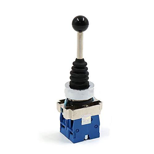 Interruptor de palanca de mando, palanca de mando de retorno por resorte Interruptor de palanca de mando con orificio de montaje de 22 mm de diámetro para automatización y campo de seguridad (2 posic