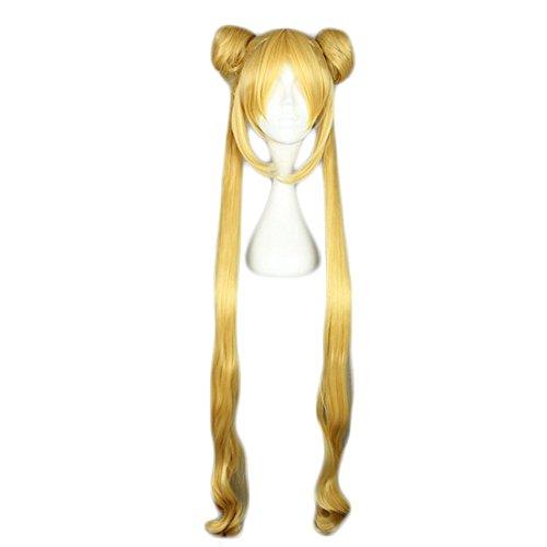 Cosplaza Parrucca con capelli sintetici lunghi Tsukino Usagi Sailor Moon, per cosplay