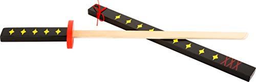 Small Foot 11408 Japanisches Holzschwert Katana, Karneval-Zubehör, mit Schutzhülle zur sicheren Verstauung Spielzeug, Mehrfarbig