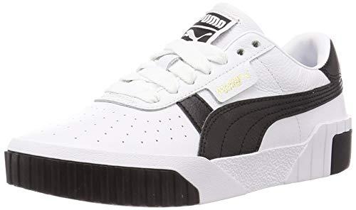 PUMA Damen Cali Wn S Sneaker, White Black 17, 36 EU
