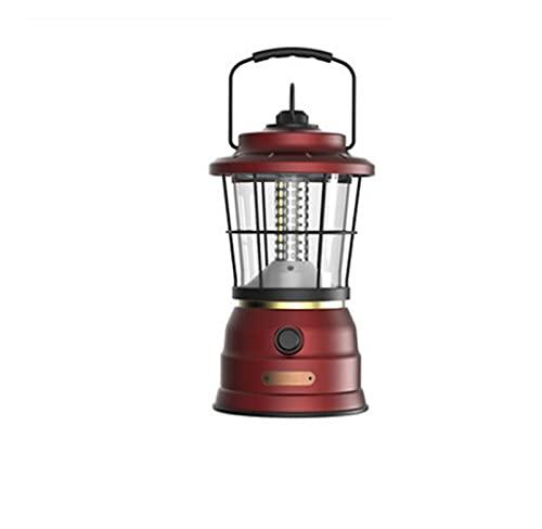 Luces de camping Lámpara retro de lujo ligero for acampar al aire libre lámpara de iluminación recargable impermeable impermeable Atmósfera Lámpara Camping al aire libre de emergencia de huracán