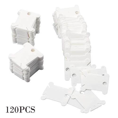 Hahuha Wickelplatte, 120 Stück Plastikseide Spulen für Stickgarn Organizer, Kunsthandwerk & Nähen