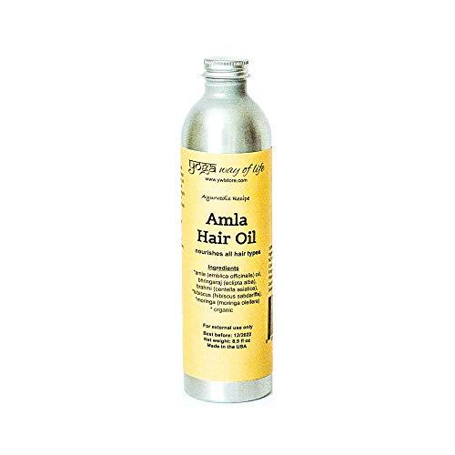 Amla Hair Oil - Organic Indian Gooseberry Herbal Oil | Nourishes Hair and Scalp | Ayurvedic Recipe | 8.5 FL OZ