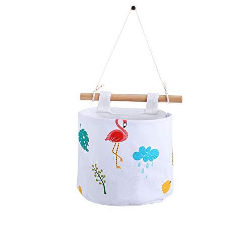 Demarkt 1pcs Rangement Tenture Murale Sac de Rangement Chevet Rouleau Papier Toilette Seau Suspendu Panier (Blanc 15 * 20cm