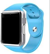 Timethinker A1 Reloj Inteligente Bluetooth con cámara SIM Smartwatch Deporte podómetro para Android Smartphone Rusia PK para DZ09 (Azul, con Caja)