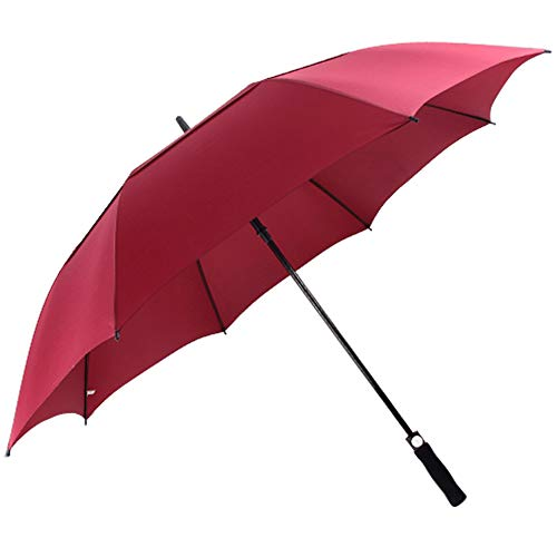 ACEIken Golf Umbrella Windproof Large 62 Inch, Double Canopy Vented, Automatic Open, Extra Large Oversized,Sun Protection Ultra Rain & Wind Resistant Stick Umbrellas (Red)