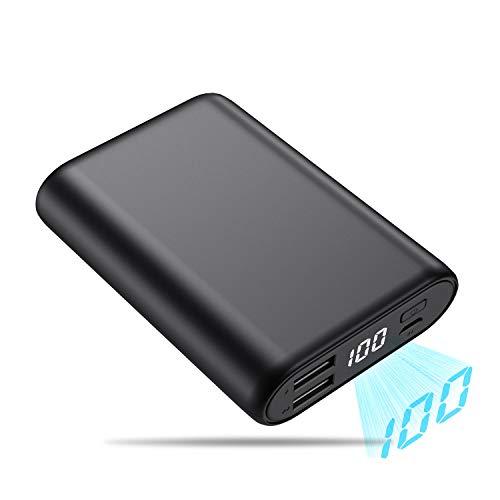 QTshine Power Bank, 16800mAh [Mini Design] Caricabatterie Portatile con LCD Digitale Display Alta capacità Batteria Esternacon 2 Porte USB Compatibile per Android/iOS Tablettes et Smartphones