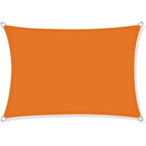 GUOGAI Toldo Parasol 6x6.5m Exteriores Accesorios de MontajeTodo Incluído Toldo Vela IKEA Telas Lona Cubierta Protección Anti-UV 95% para Patio, Exteriores, Jardín, Naranja