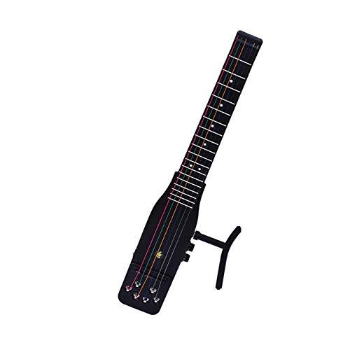 CXD Guitarra Viajes, trastes de la Guitarra eléctrica Silencio 18 Frescos de práctica de plástico 6 Cuerdas acústicas Piezas de la Herramienta Entrenador Guitarra Gadget para Principiantes,1