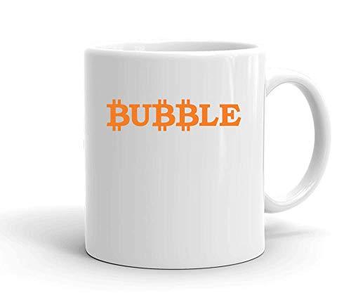 IDcommerce BTC Bubble Tasse en Céramique Blanche pour Le Thé Et Le Café