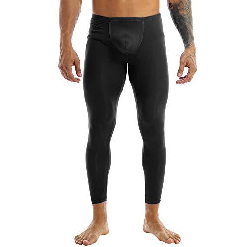 Nimiya Herren Strumpfhose Sexy Semi-Transparent Strümpfe Leggings Low Rise Pantyhose Stützstrumpfhose Ausbuchtung Unterwäsche Nachtwear Sportwear Schwarz XL