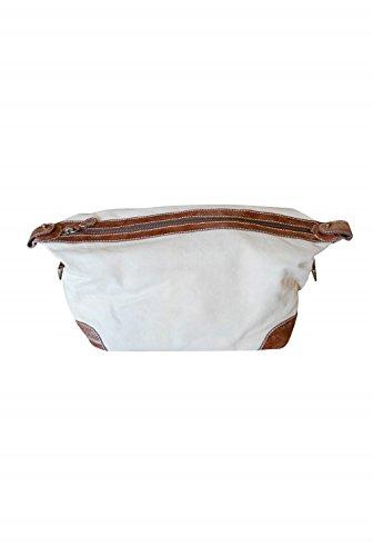 Decoshop–Bolsa de Aseo de Cuero y algodón