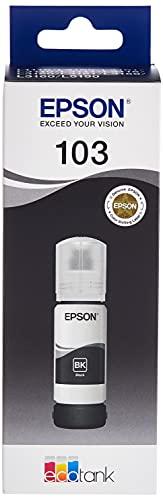 Epson C13T00S14A Flasche EcoTank 103 Tinte schwarz, 65 ml, 4500 Seiten