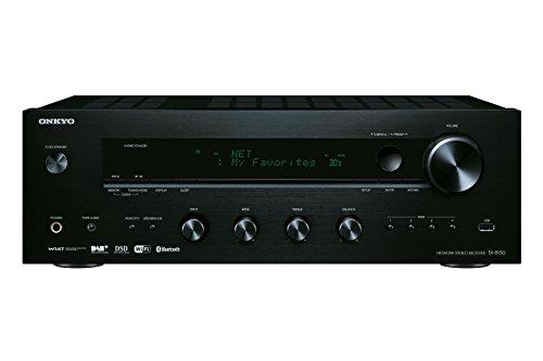Onkyo TX-8150(B) Stereo Receiver (Hifi Verstärker 135 W/Kanal, Multiroom, WLAN, Bluetooth, Streaming, DAB+/FM/RDS-Radio, MM-Phono-Vorverstärker für Plattenspieler, Anschlussvielfalt), Schwarz