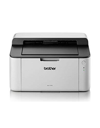 Brother HL-1110 Mono Laser Printer - Single Function, USB 2.0, Compact, A4 Printer, Small Office/Home Printer