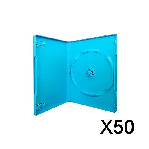 Pack 50 Boitiers de remplacements CD/DVD pour jeux Wii-U consoles Bleu