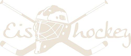 GRAZDesign 660164_30_816 Wandtattoo Eishockey | Sportlicher Wandsticker für Sportraum | Aufkleber in 47 Farben (68x30cm // 816 Antique White)