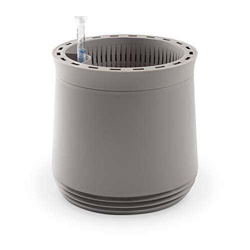 AIRY System Größe M (Ø 28 cm) – Patentiertes System mit der Kraft der Pflanzen als natürlicher Luftreiniger und Luftbefeuchter für Innenräume (Light Grey/Light Grey)