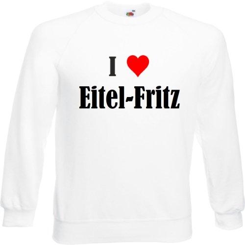 Reifen-Markt Sweatshirt I Love Eitel-Fritz Größe 2XL Farbe Weiss Druck Schwarz