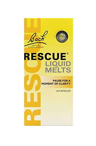 RESCUE Remedy Liquid Melts - Comfort And Reassure, Natural Flower Essences, 28 Capsules