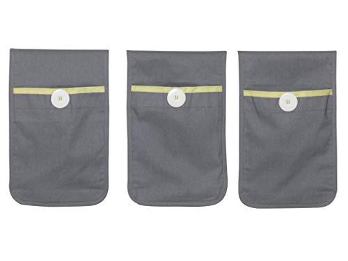 FLEXA BASIC Betttaschen Grau für Kinderbett 83-90179
