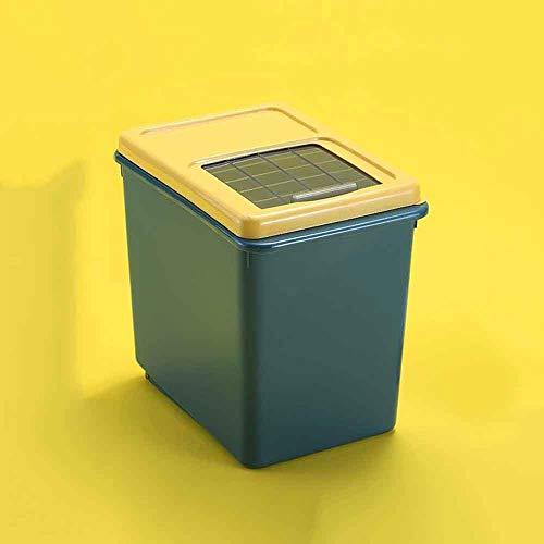 YWSZJ Cubo de arroz Tanque de Almacenamiento Sellado a Prueba de Insectos y Humedad Contenedores de Almacenamiento sellados para Granos de Comida para Perros y Gatos