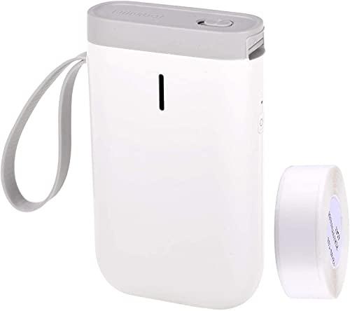NIIMBOT D11 - Stampante termica per etichette - Modello ufficiale 2021 - Smart Bluetooth Pocket Tag Printer per uso personale e professionale (Bianca2021)