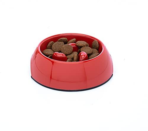 DDOXX Fressnapf Antischlingnapf, rutschfest | viele Farben & Größen | für kleine & große Hunde | Futter-Napf Katze | Hunde-Napf Hund | Katzen-Napf | Melamin-Napf | Rot, 600 ml