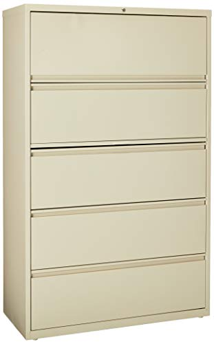 Lorell 5-Drawer Lateral File, 42 by 18-5/8 by 67-11/16-Inch, Putty