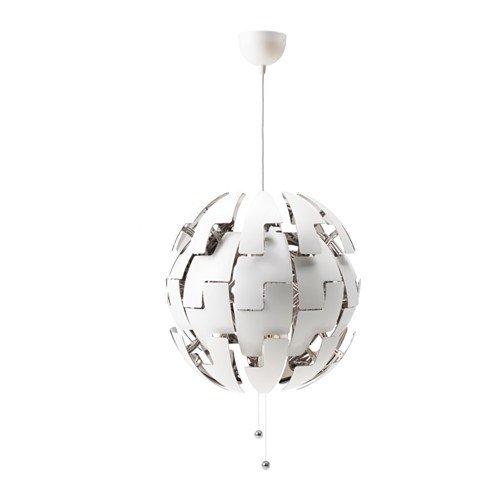 IKEA PS 2014 Hängeleuchte in weiß/silberfarben; (52cm); A