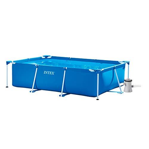 INTEX Pack Piscina Small Frame 220x150x60 cm 1662 litros + Depuradora cartucho 1250 litros/hora