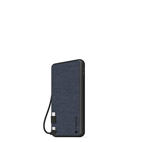 Mophie powerstation Plus (6,000mAh) - Qi Wireless Charging with Built in Micro USB and Lighning Cables - Blue (401101693)