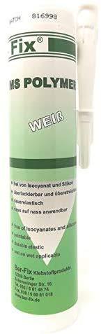 Ber-Fix® Ms Polymer Weiss Metall-Kunststoff-Kleber dauerelastische kleb dichtmasse wasserdicht für den Aussenbereich bei Wohnwagen Auto Fenster Haus Pool Boot