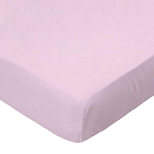 SheetWorld Fitted Pack N Play (Graco Square Playard) Sheet - Baby Pink Jersey Knit - Made In USA