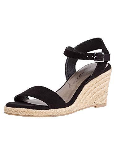 Tamaris Damen 1-1-28300-26 Sandale, Schwarz, 39 EU