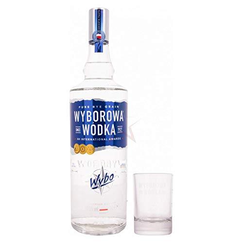 Wyborowa Wódka 37,5% - 1000 ml with Shotglas