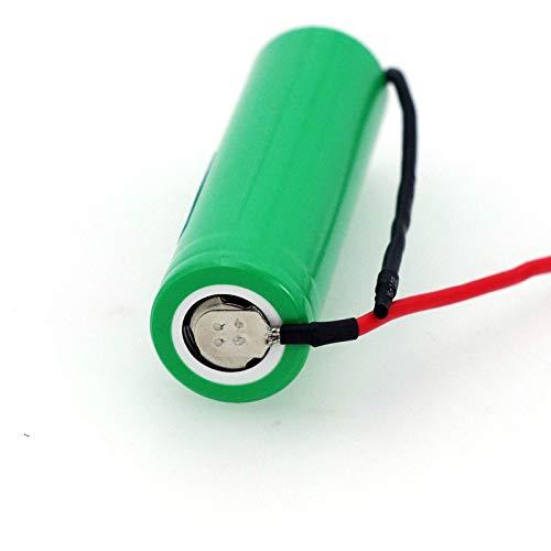 MeGgyc VariCore 18650 - Batería recargable (2500 mAh, 3,6 V, INR18650-25R, descarga de 20 A, cable de gel de sílice, 1 batería