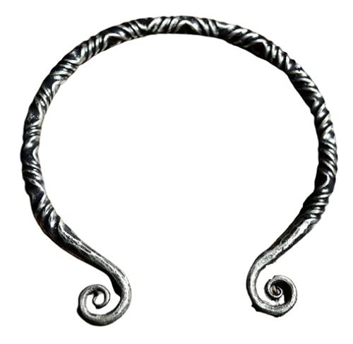 TWISTING IRON TORC Torc Torques Necklace Twisted Druid Celtic Celt Celts Viking Vikings Iron Steel Metal Handmade Forged Craft Metalhead