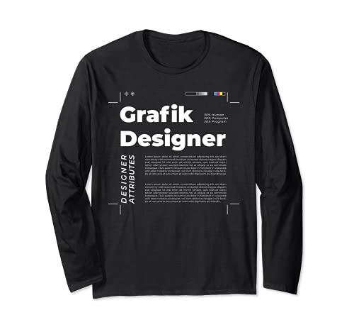 Grafikdesigner Grafiker Kommunikationsdesign Mediendesign Langarmshirt