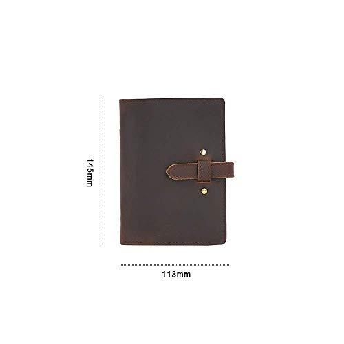 Cuero auténtico de la vendimia Cuaderno A5 A6 A7 Personal Diary Diario de viaje Planificador Sketchbook Agenda regalo de cumpleaños de la Escuela dljyy