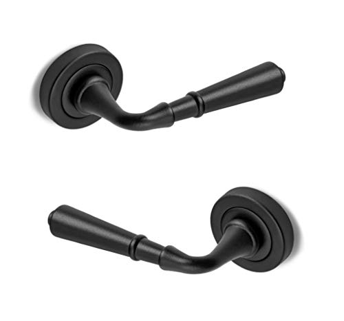 ARCO · Juego de manillas para puerta, acabado negro · Fabricado en España