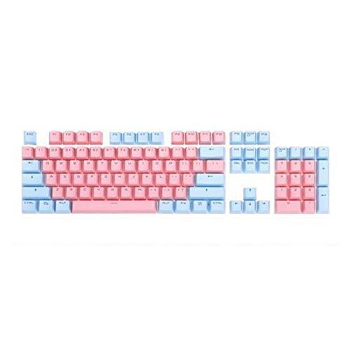 Mmbh 104 Piezas de Kit de reemplazo de backlito de Dos Colores Accesorios para el Kit de reemplazo para Cherry/Kailh/Gateron/Outemu Switch Teclado mecánico (Color : Blue Pink)