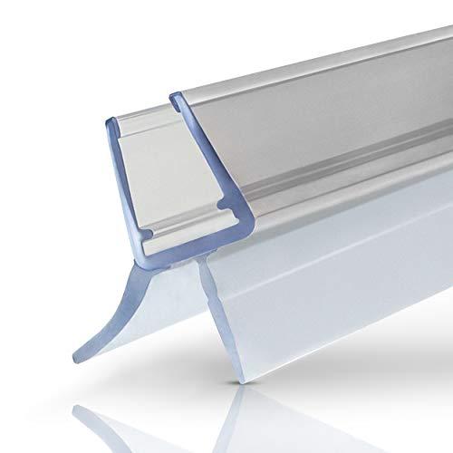 Premium Duschdichtung - 1x100cm Wasserabweisende Dichtlippe für Duschkabinen - Für 6mm - 8mm Glasdicke geeignet - Dichtung Dusche - Gummilippe Duschtür