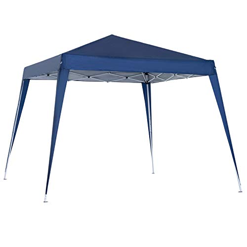 Outsunny Carpa Plegable 3x3m Cenador de Jardín Diseño Pop Up de Acero y Cubierta de Tela Oxford Azul