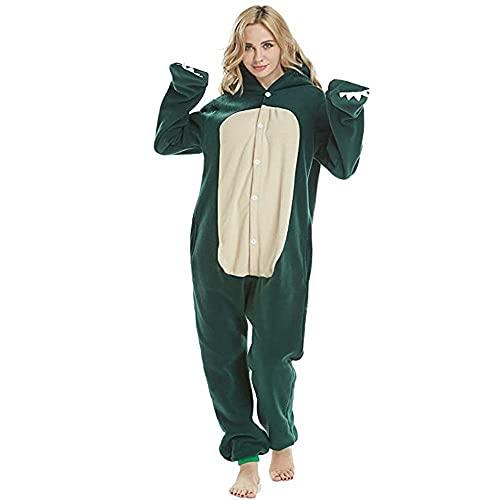 WEIYIing Pijamas de una Sola Pieza de Las Mujeres Pijamas Animal Onesie para Adultos de Vestuario Onsie de Dibujos Animados de una Sola Pieza Trajes-Pijamas de Mujer_L